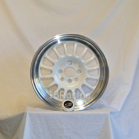 Rota Wheels Track R2 1570 4X100 40 67.1 White with Polish Lip
