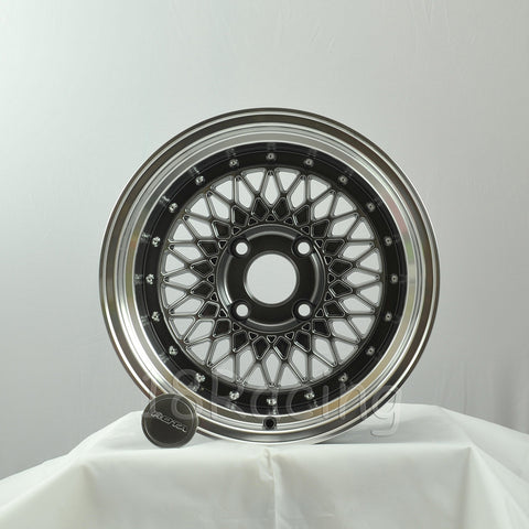 Rota Wheels Wired 1590 4X114.3 -15 73 Hyperblack with Polish Lip