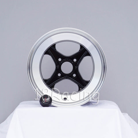 Rota Wheels XO4 1580 4X114.3 -10 67.1 Black with Polish Lip