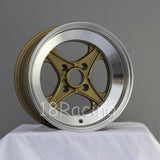 Rota Wheels XO4 1580 4X100 0 67.1 Gold with Polish Lip
