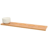 Olsen Bamboo Board & Set of 5 Bowls: White