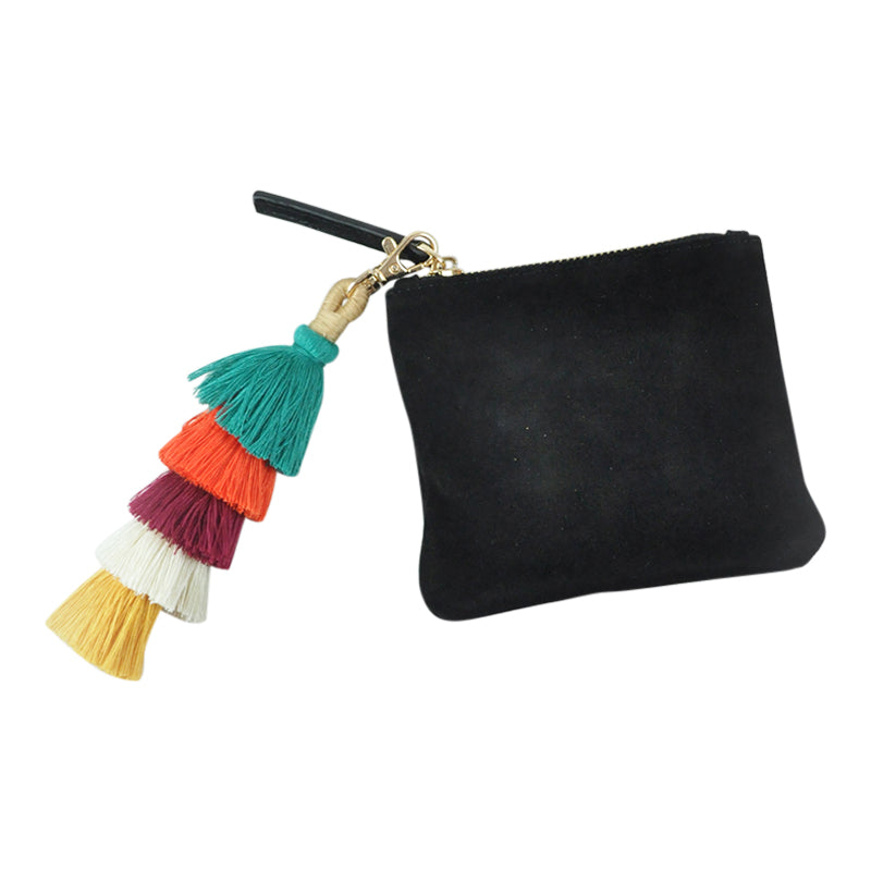 Wiley Suede Purse Black
