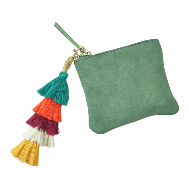 Wiley Suede Purse Sage