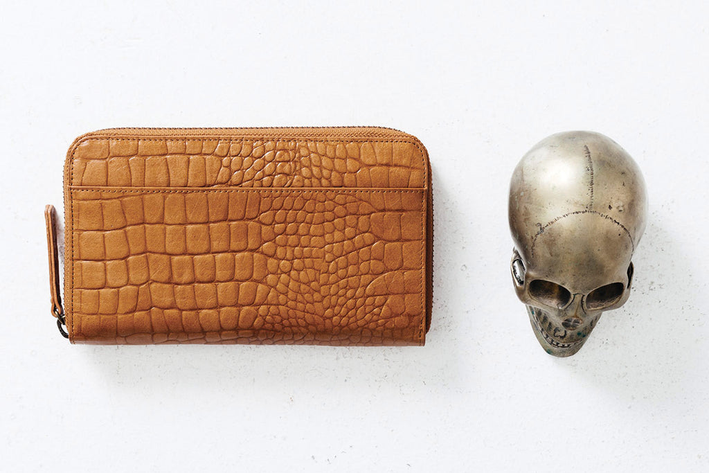 Delilah Wallet: Tan Croc **LAST ONE**