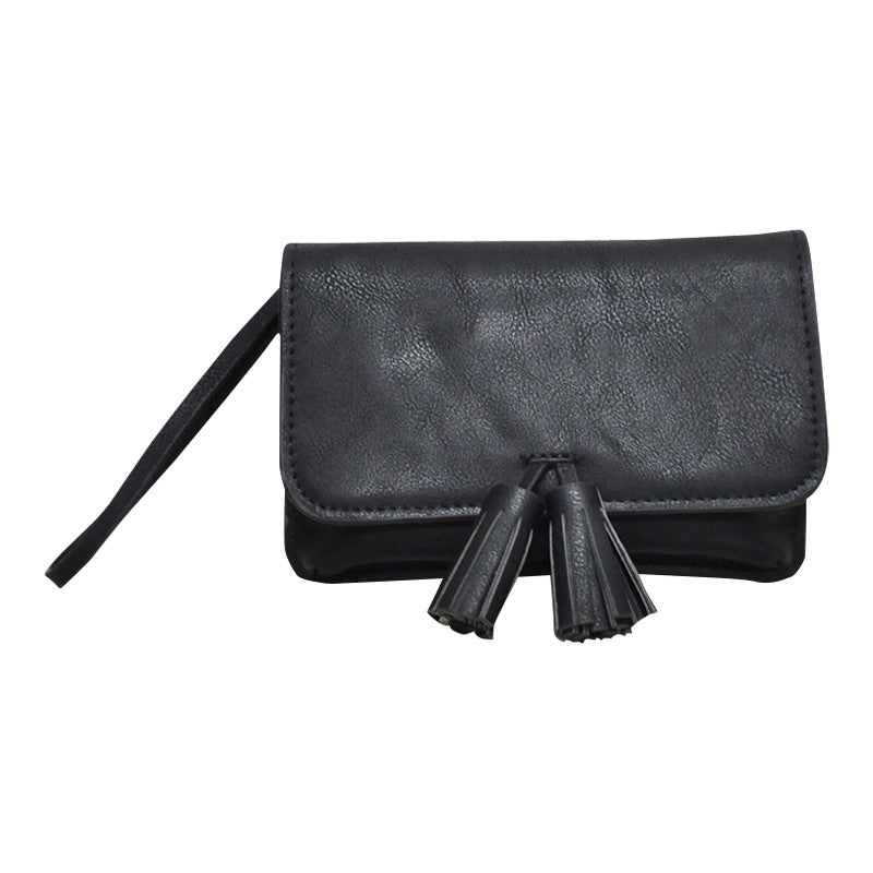 Giselle Tassel Purse: Black **LAST ONE**