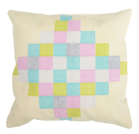 Rudy Patchwork Felt Cushion: Magenta **LAST ONE**