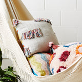 Sage and Clare Laurel Fringe Cushion
