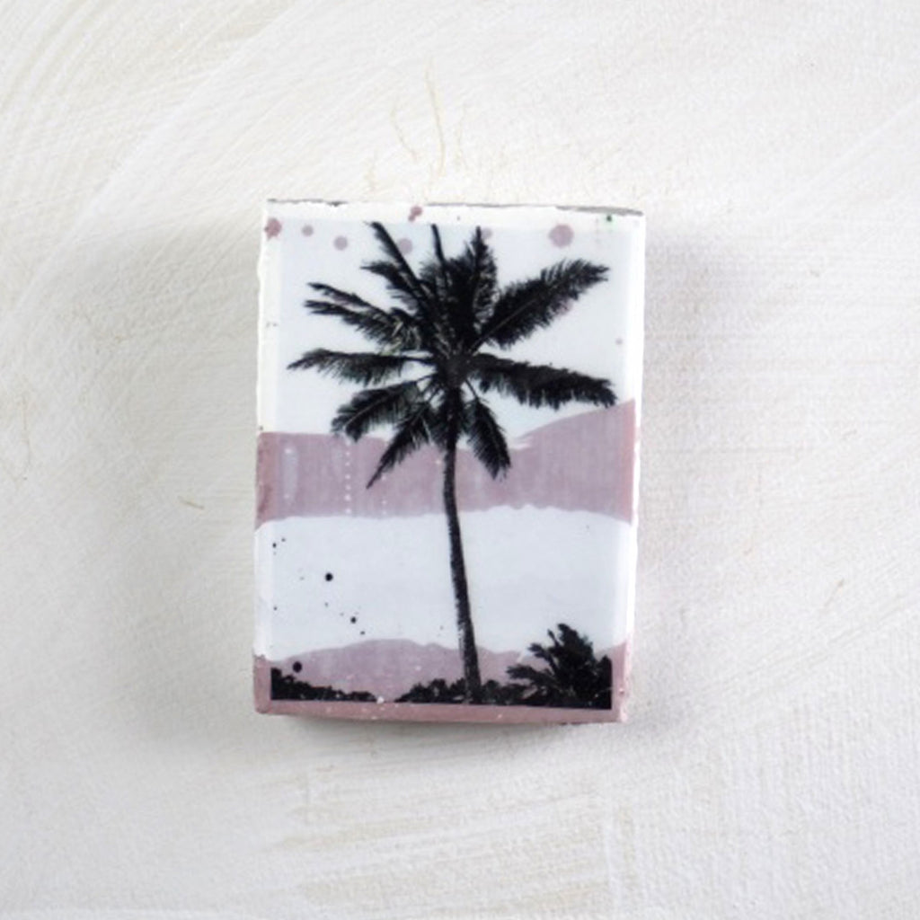Mini Tile: Blush Palm