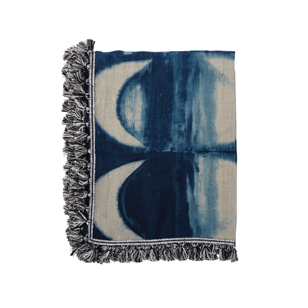 Lumiere Art + Co Moon Phase Shadow Linen Throw