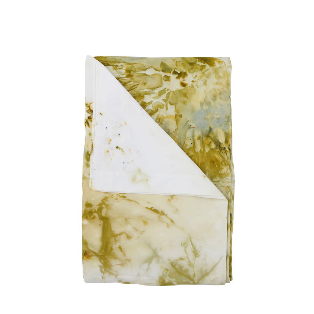 Lumiere Art + Co Olive Marbled Pillowcase