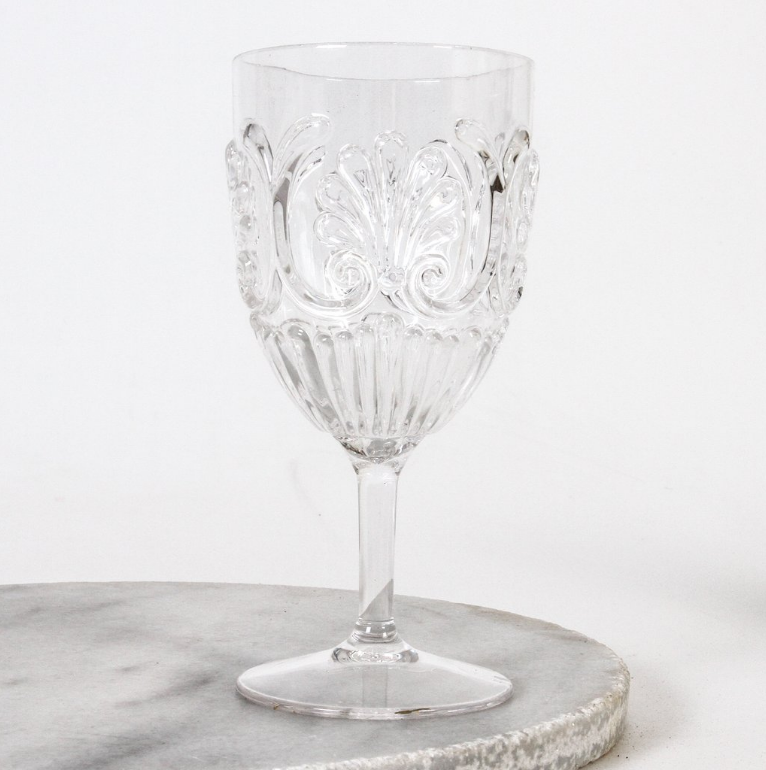Flemington Acrylic Wine Glass: Clear