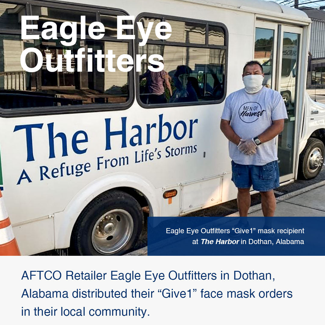 Eagle Eye Outfitters in Dothan, Alabama distributed masks in their local community