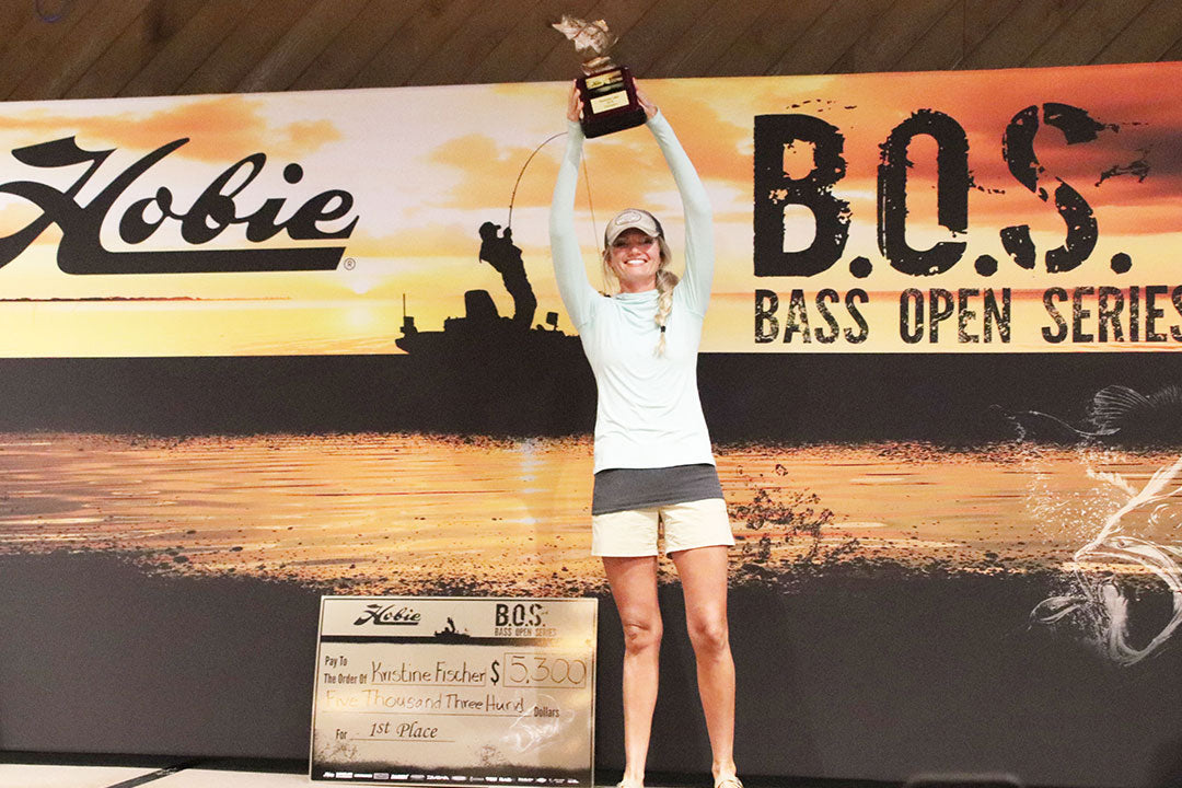 AFTCO Women's Bass Fishing   Kristine Fischer 1st Place At The Hobie Bass Open Series
