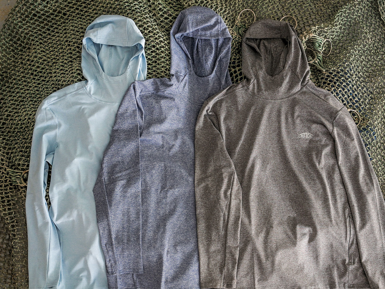 Rescue Hoodies on top of recycled nets