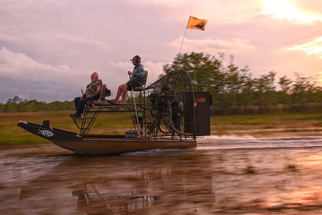 CAptain Ray Rosher On An Airboat In Everglades | AFTCO