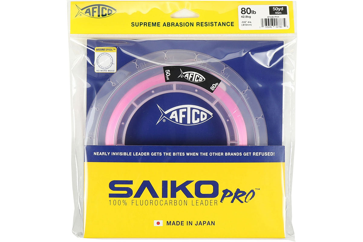 Capt. Moe prefers Saiko Pro Fluoro in pink for maximum bites