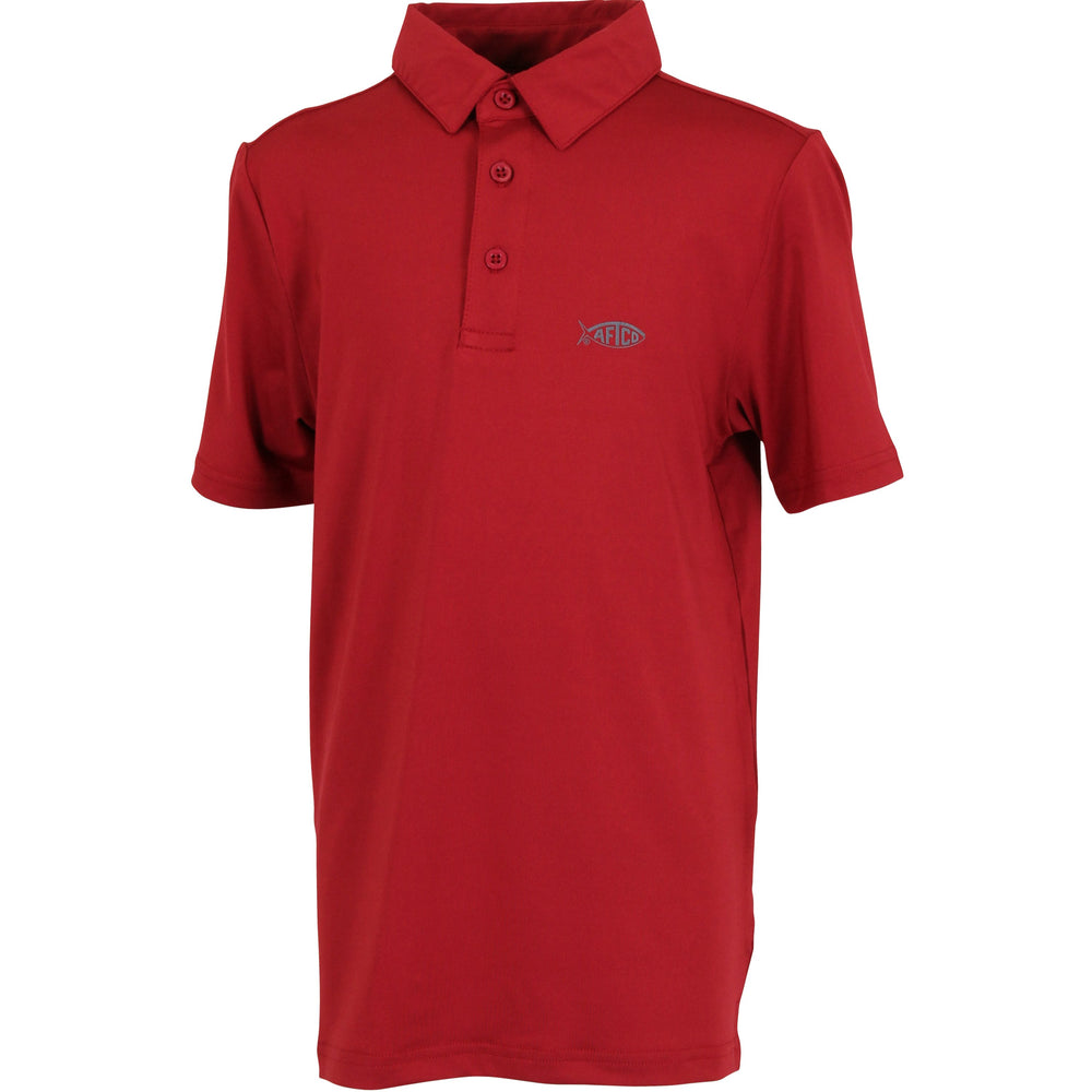 38764249c Youth Wellington Dry Wicking Polo Shirts – AFTCO