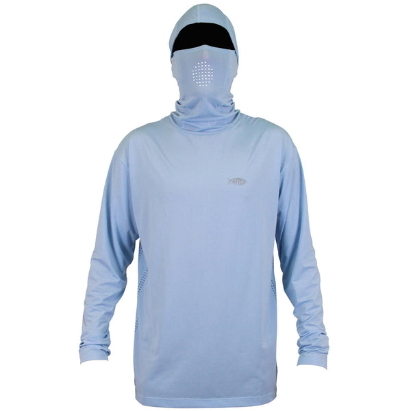 Fish ninja hood sun protection long sleeve fishing shirt for Spf shirts for fishing