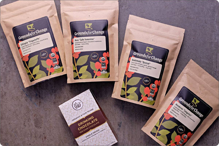 Fair Trade Coffee & Organic Coffee: Aficionado Coffee Gift Box