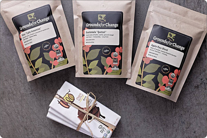 Fair Trade Coffee & Organic Coffee: Chocoholic Gift Box