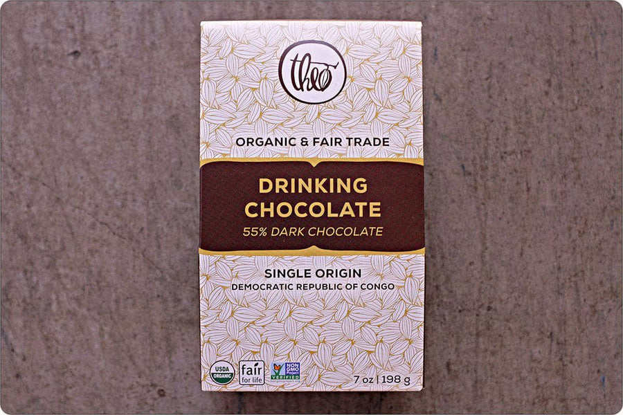 Fair trade organic drinking chocolate by Theo Chocolate