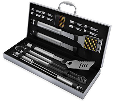 16-Piece Stainless Steel Home-Complete BBQ Grill Tool Set