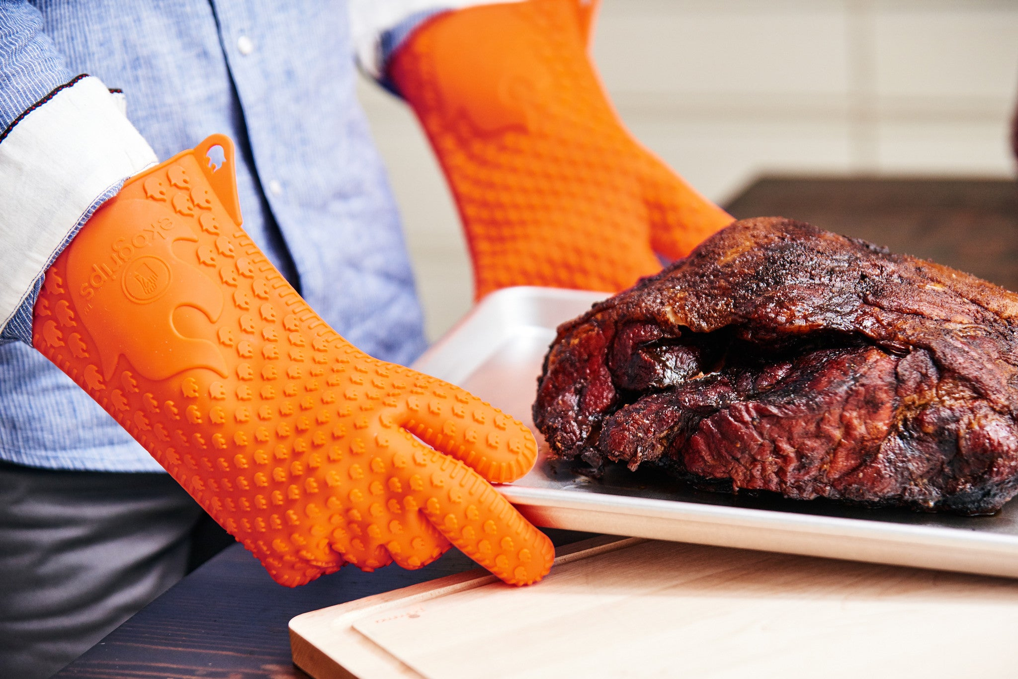 best bbq gloves silicone easy to clean