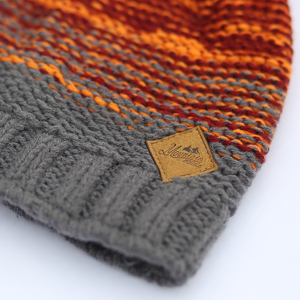 Mountain Made Winter Striped Beanie Hat