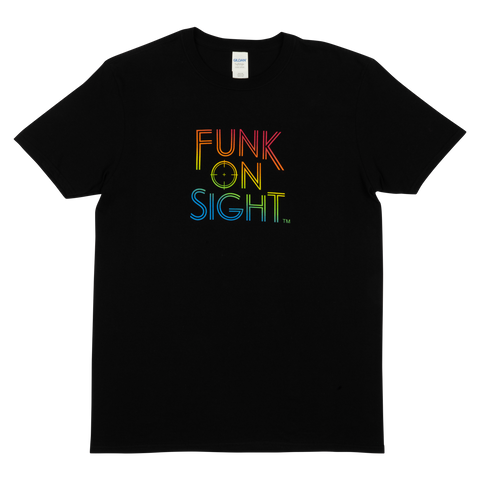 Tuxedo - Funk On Sight Rainbow Logo Tee