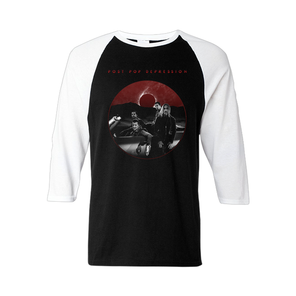 Eclipse 3/4 Sleeve Baseball Tee - Post Pop Depression
