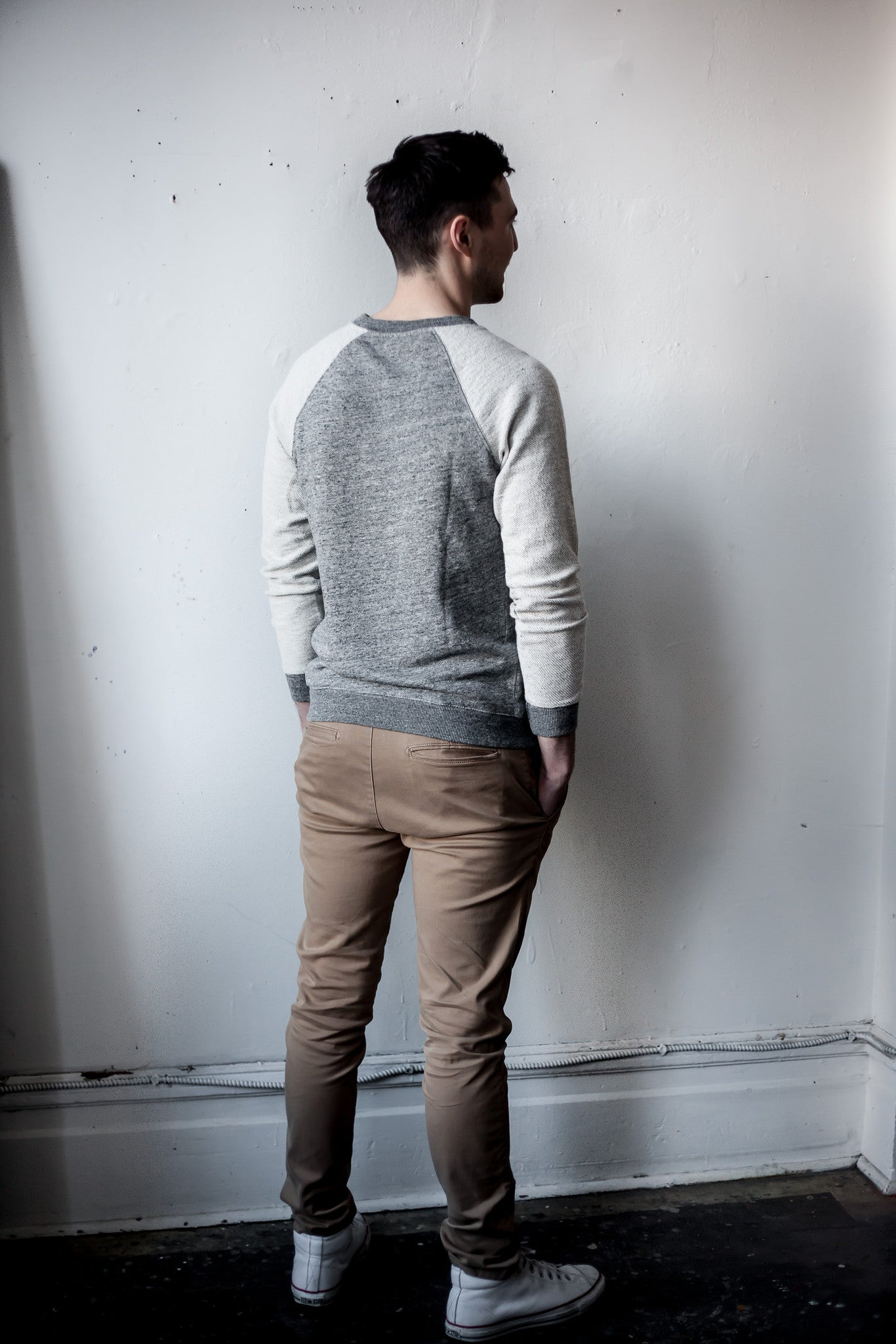 SWEATER IN REVERSE GREY - Fallow Ltd.