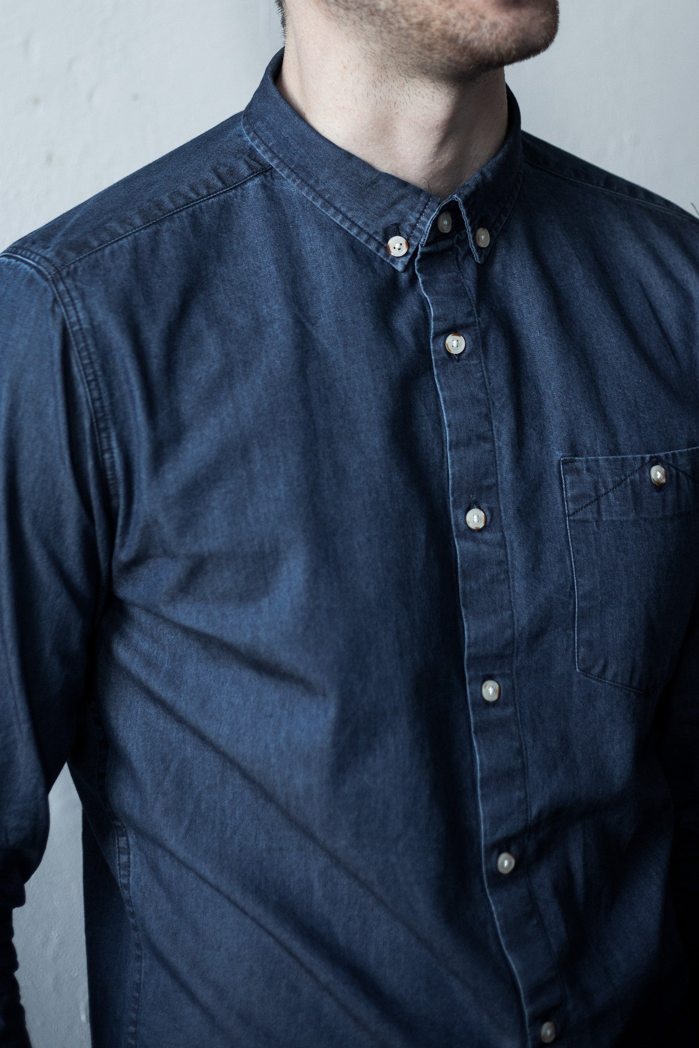 DENIM BUTTON UP - Fallow Ltd.