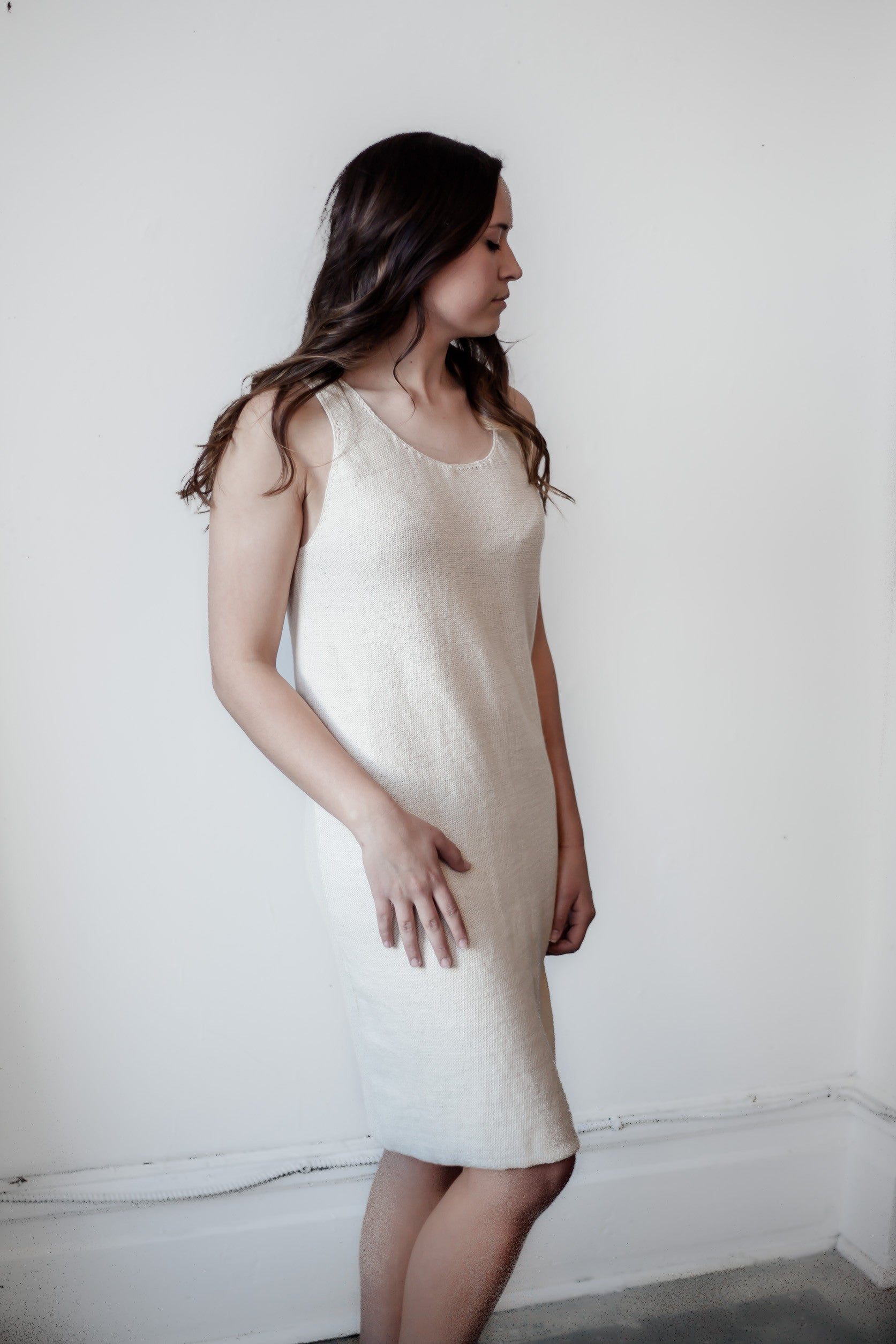 ECRU TANK DRESS - Fallow Ltd.