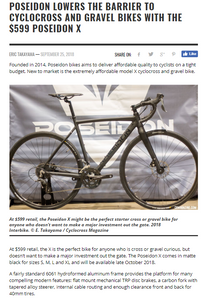 CX Magazine talked about the Poseidon X at Interbike 2018