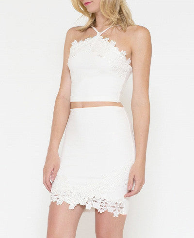 Lace Detailed Crop Top - It's So Mimi