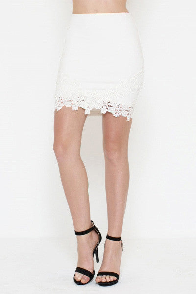 Lace Detailed Skirt - It's So Mimi