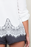Denim Lace Shorts - It's So Mimi