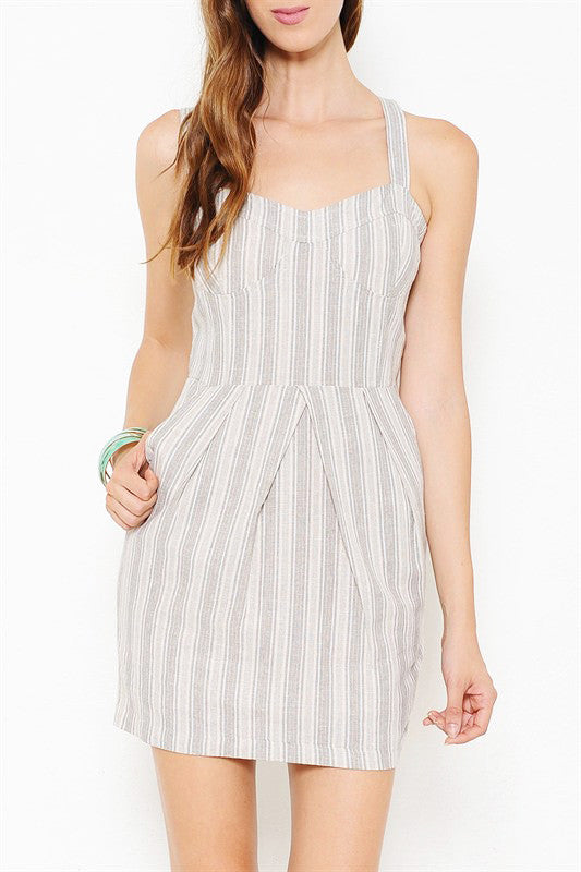 Pocket Dress with Stripes