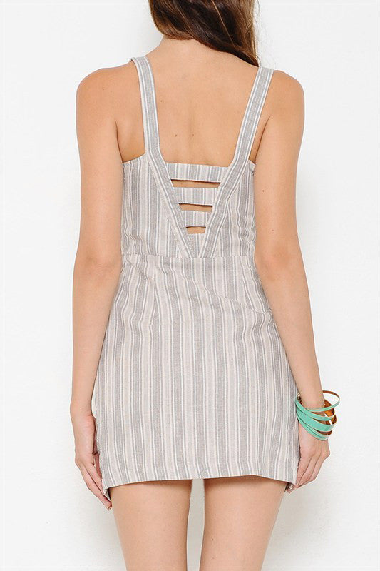Pocket Dress with Stripes - It's So Mimi
