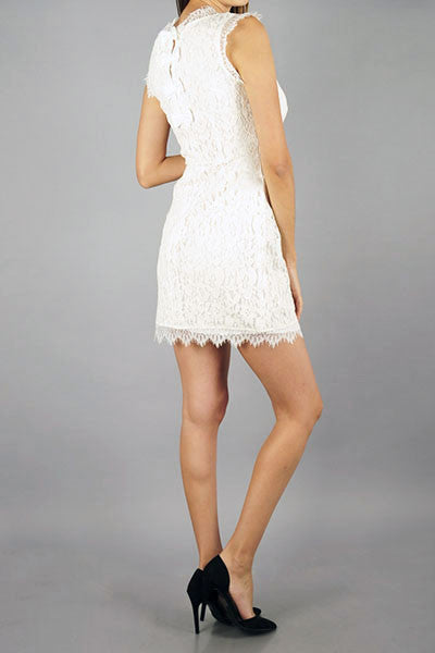 Lace Dress with Bows