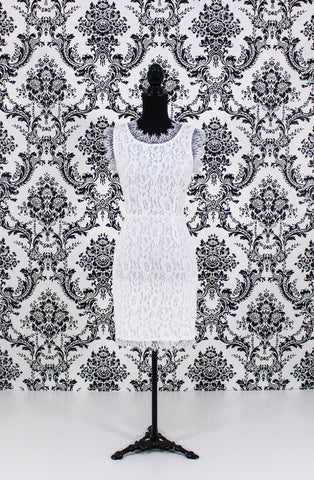 U-shaped Back Lace Dress
