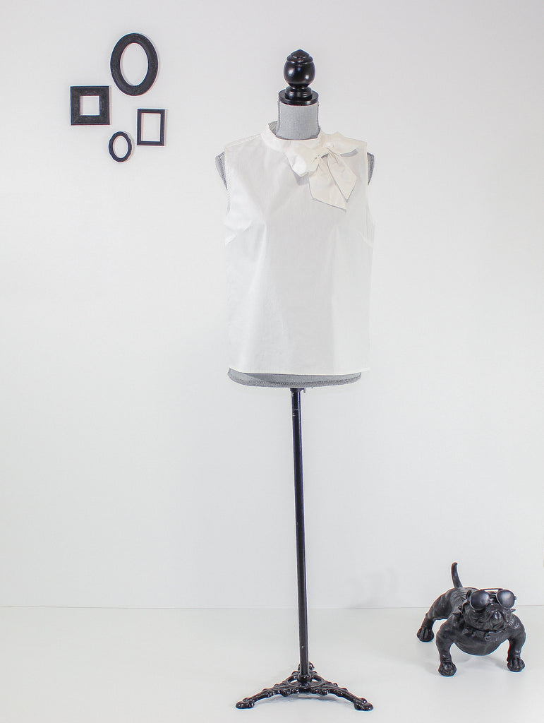 The Bow Blouse (White)