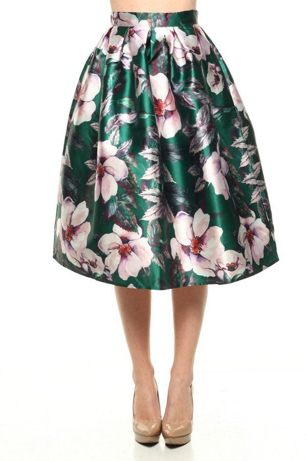 Floral Midi Skirt - It's So Mimi