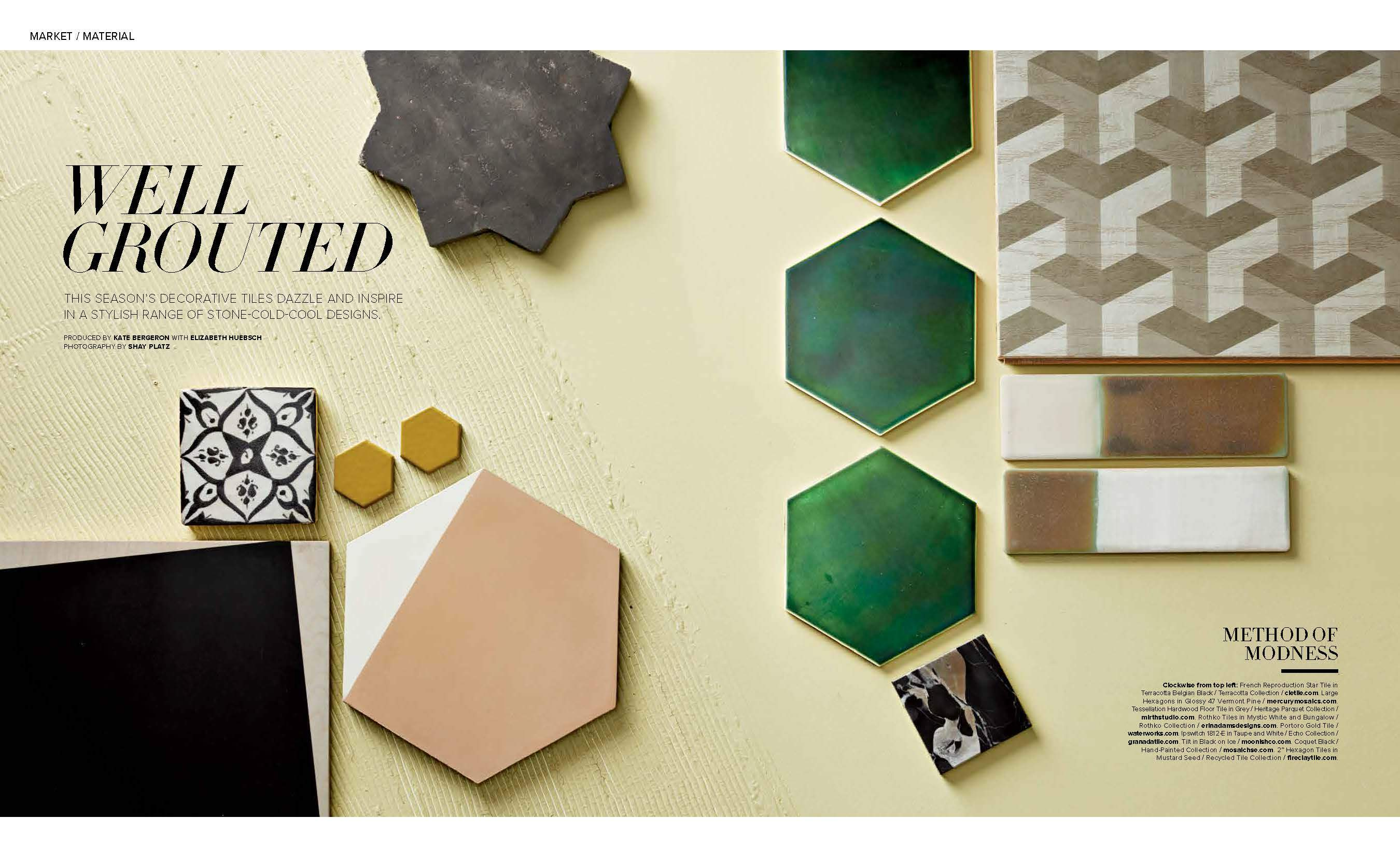 monday mention – luxe magazine sf crazy for clé decorative tiles