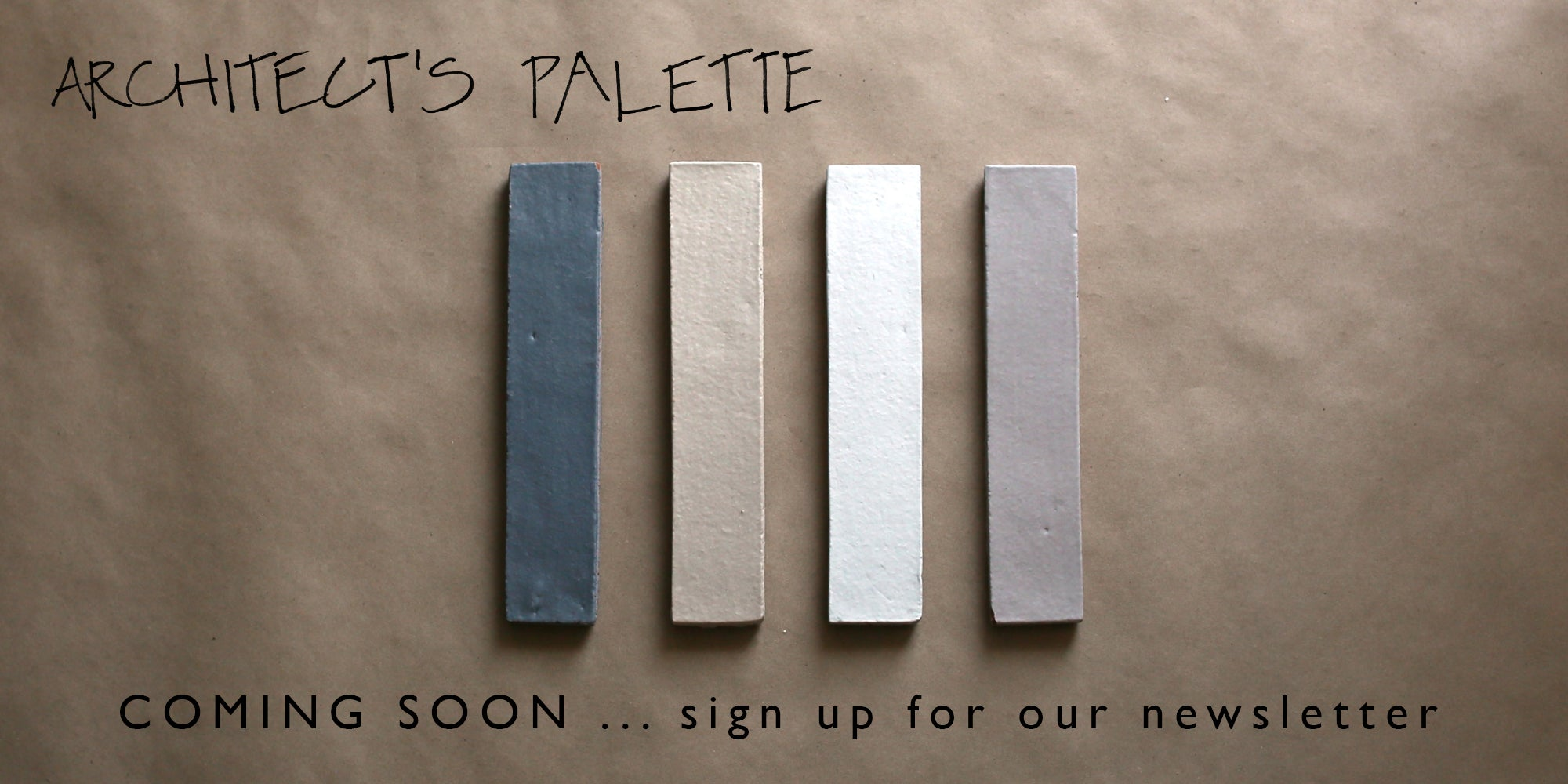 ARCHITECT'S PALETTE: italian glazed brick in terracotta... coming soon