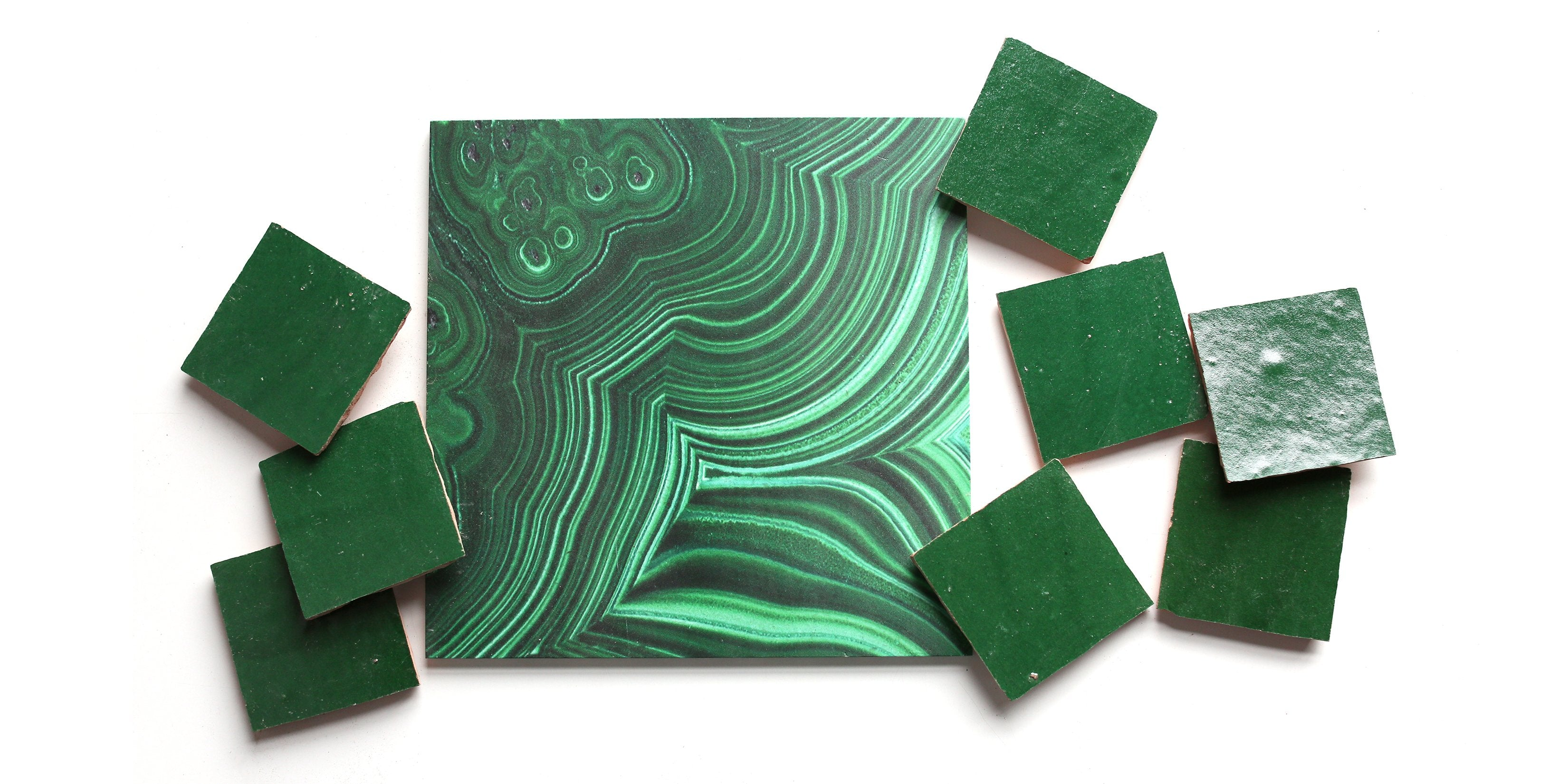 monday mention – take us to emerald city! zellige and malachite in living space south africa