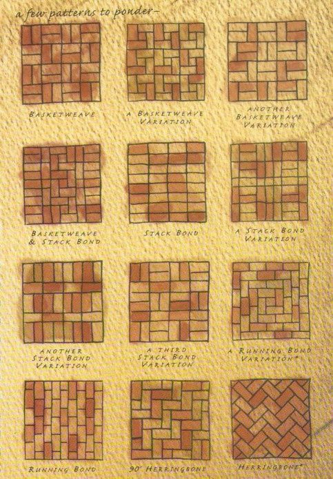 brick tile patterns. different layouts for brick tile.
