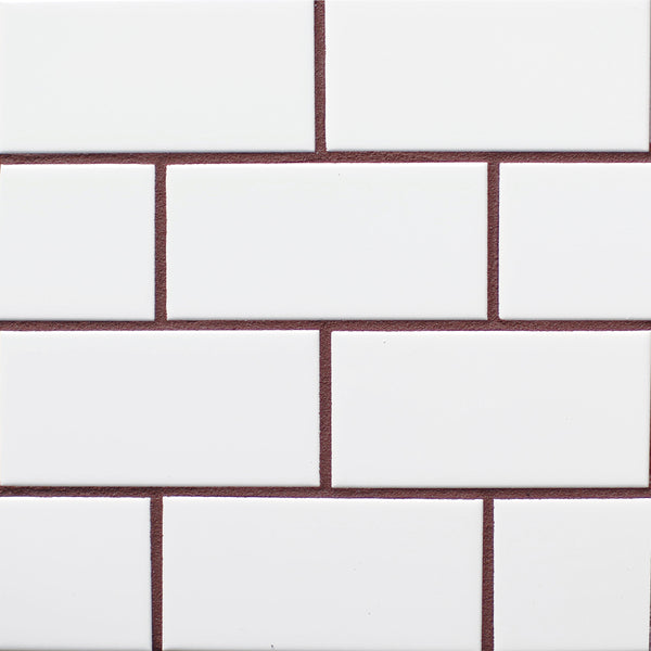 brick red tile grout