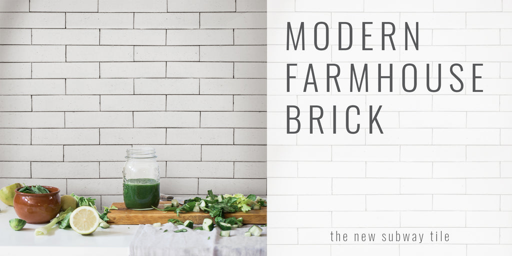 clé tile-Modern Farmhouse Brick, the new subway tile