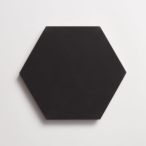 "cement  solid black hex 8""x9""x5/8"" sample"